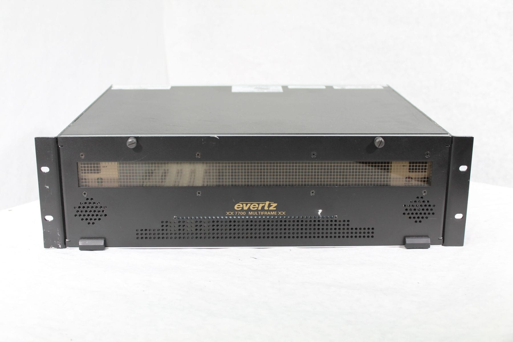 Evertz 7700FR-C 3RU Multiframe w/ (2)Power Supply Main