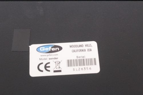 Gefen CAT5 9500HD Sender and Receiver Unit w/Case - Label 2