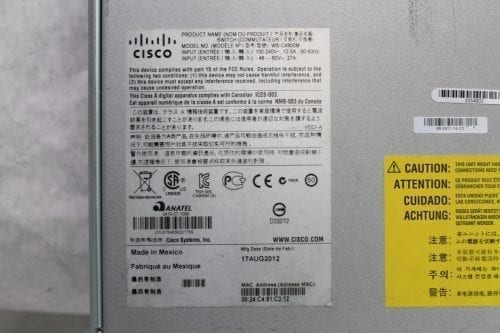 Avid Cisco 4900M Switch for ISIS 7000/7500 Label