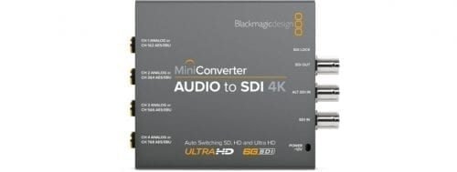 Mini Converter - Audio to SDI 4K Front