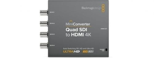 Mini Converter - Quad SDI to HDMI 4K 2 Front