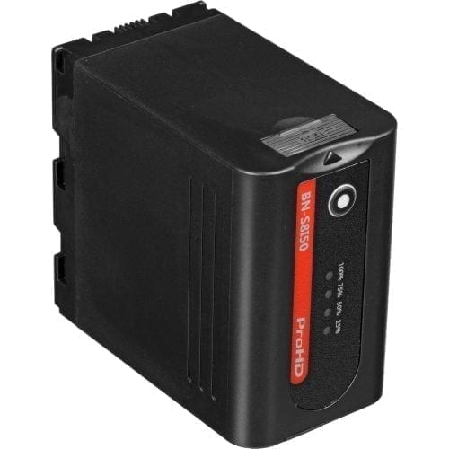 JVC BN-S8I50 7.2V/6.6Ah LITHIUM ION BATTERY FOR GY-LS300,HM200/600/650, DT-X MONITORS Front