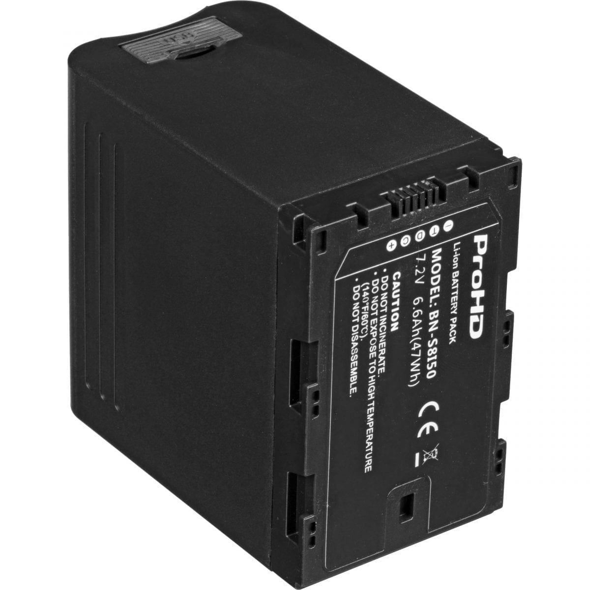JVC BN-S8I50 7.2V/6.6Ah LITHIUM ION BATTERY FOR GY-LS300,HM200/600/650, DT-X MONITORS Rear
