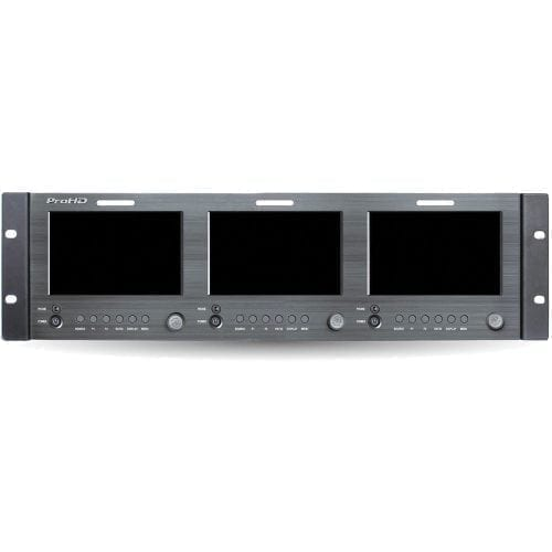 JVC DT-X51Hx3 TRIPLE 5-IN RACK DISPLAY MONITOR w/HDMI Front