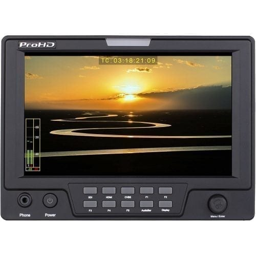 JVC DT-X71HP ProHD 7-in HD/C2K PORTABLE LCD MONITOR (HD-SDI, HDMI, COMPOSITE) Front