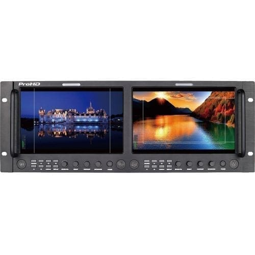 JVC DT-X93HX2 ProHD DUAL 9-IN RACK DISPLAY MONITOR (3G-SDI, HDMI, COMPOSITE) Front