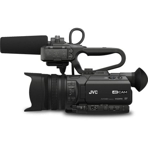 JVC GY-HM200U 4KCAM COMPACT HANDHELD CAMCORDER w/INTEGRATED 12X LENS Side