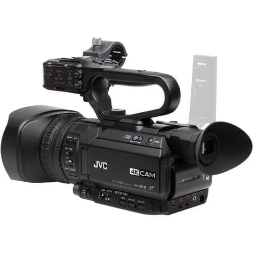 JVC GY-HM200U 4KCAM COMPACT HANDHELD CAMCORDER w/INTEGRATED 12X LENS Rear