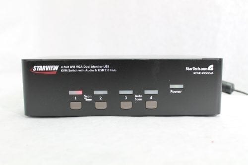 StarTech.com SV431DDVDUA 4 Port DVI VGA Dual Monitor USB KVM Switch w/ Audio AV Gear Main