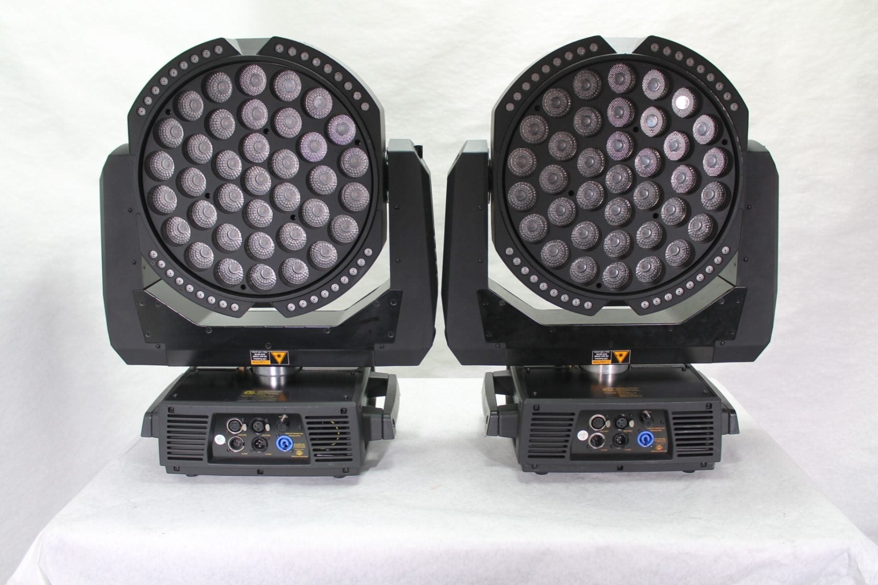 High End Systems SolaWash 37 LED Wash Light Pair w/ ATA Case Front