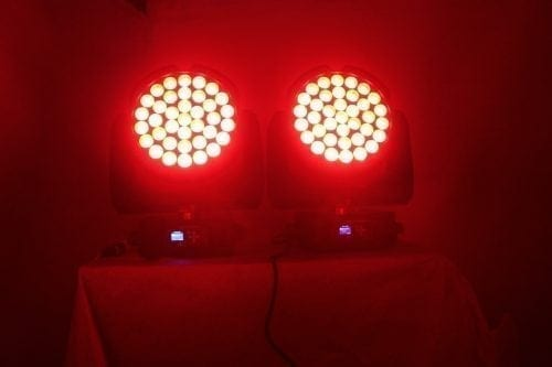 High End Systems SolaWash 37 LED Wash Light Pair w/ ATA Case Red
