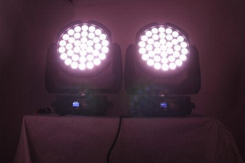 High End Systems SolaWash 37 LED Wash Light Pair w/ ATA Case White