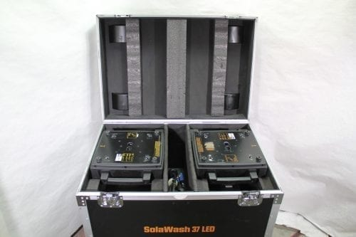 High End Systems SolaWash 37 LED Wash Light Pair w/ ATA Case Bottom