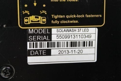 High End Systems SolaWash 37 LED Wash Light Pair w/ ATA Case Panel