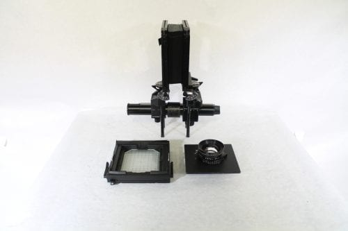 Sinar F 4x5 Monorail Large Format View Camera - Rodenstock 210mm f/5.6 Lens w/ Case & Extension Tube AV Gear Side2