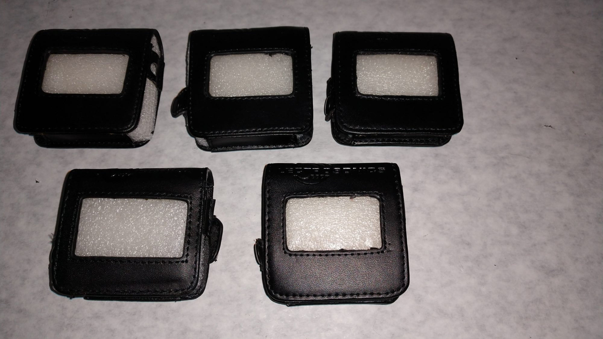 Lectrosonics PSMD Protective Pouch for SMD and SMQ Transmitters Lot of 5 Close