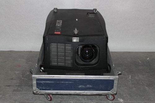 Barco FLM HD20 20k Lumens 1080p HD DLP Projector (5415 Hrs) in ATA Case - 28 Lamp Hrs + Spare Lamp (1C) Main
