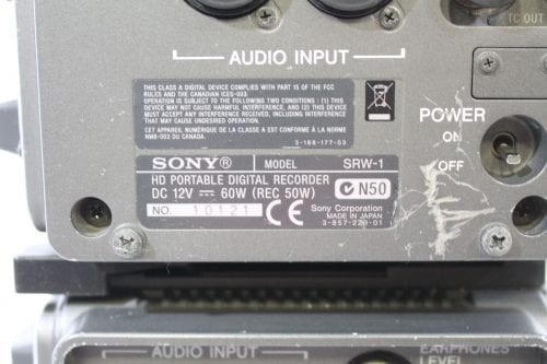 Sony SRW-1 SRPC-1 HDCAM SR Portable Digital Recorder w/ HKSR 102 / 103 Boards - 2137 Drum Hrs Label1