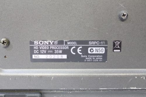 Sony SRW-1 SRPC-1 HDCAM SR Portable Digital Recorder w/ HKSR 102 / 103 Boards - 2137 Drum Hrs Label2