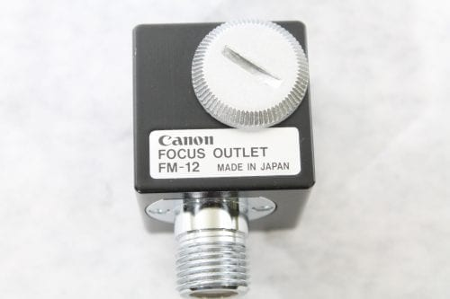 Canon FM-12 FM12 Focus Outlet (1b) - EXCELLENT CONDITION!!! Label