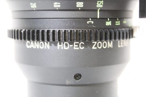 "Canon HD-EC Zoom HJ21x7.5B-III KLL-SC T2.1 7.5mm-158mm 2/3"" Lens w/ Case Label2"