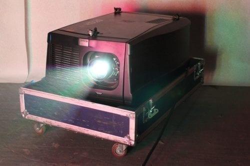 Barco FLM HD20 20k Lumens 1080p HD DLP Projector in ATA Case - 0 Lamp Hrs + Spare Lamp (1B) Front1