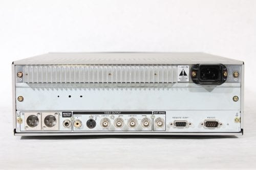 Sony J-3 Component 901 Digibeta Betacam SP / SX / MPEG Compact Player w/ ATA Case - 1016 Drum Hrs (1b) Back
