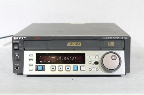 Sony J-H3 HDCAM Digital Videocassette Compact Player w/ ATA Case - 2877 Drum Hrs (1f) Main