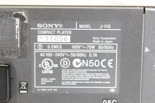 Sony J-H3 HDCAM Digital Videocassette Compact Player w/ ATA Case - 2877 Drum Hrs (1f) Label