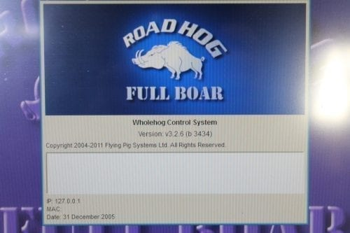 High End Systems Road Hog Full Boar v3.2.6 w/ ATA Case (1b) Version1