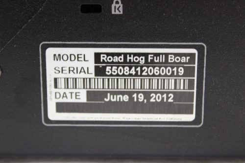 High End Systems Road Hog 3 Full Boar w/ Case & Keyboard & Lights & PS - LABEL