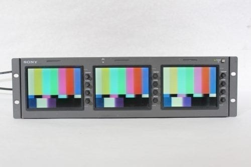 "Sony LMD-530 Triple 5"" LCD Monitor w/ Power Supply (3) Front1"
