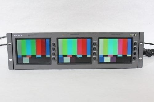 "Sony LMD-530 Triple 5"" LCD Monitor (4) Front4"