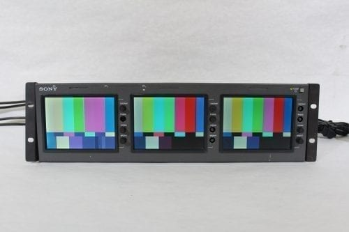 "Sony LMD-530 Triple 5"" LCD Monitor (4) Front3"