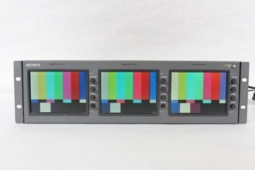"Sony LMD-530 Triple 5"" LCD Monitor (4) Front2"