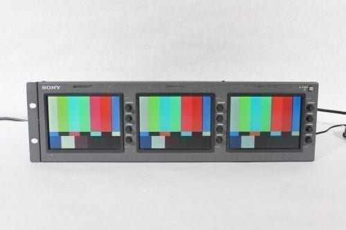 "Sony LMD-530 Triple 5"" LCD Monitor (4) Front1"