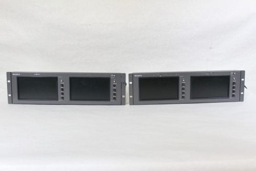 "Sony LMD-7220W Dual 7"" LCD Monitors in Rack Mount Housing w/ Power Supply (2) Main"