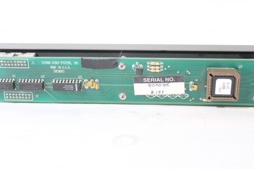 Sierra 8 x 8 XY LED Remote Control Panel 803086 w/ RS-232 Interface Label
