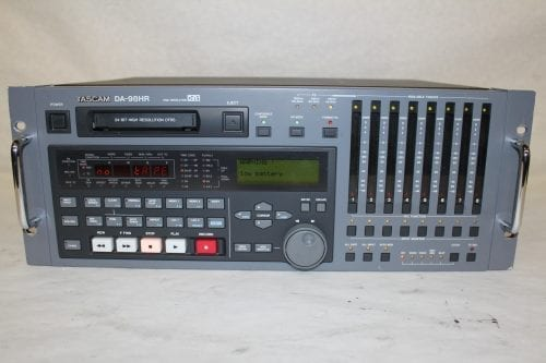 Tascam DA-98HR DTRS 24-Bit Modular Digital Multritrack Recorder w/ (2) IF-AN98HR A/D Boards (1c) Main