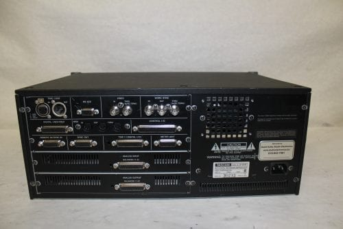Tascam DA-98HR DTRS 24-Bit Modular Digital Multritrack Recorder w/ (2) IF-AN98HR A/D Boards (1c) Back