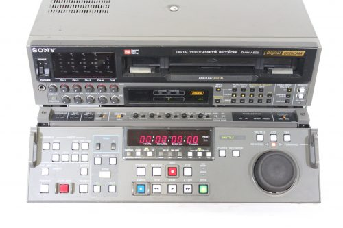 Sony DVW-A500 Digital BETACAM Analog Videocassette Recorder w/ Case - 4141 Hrs Top