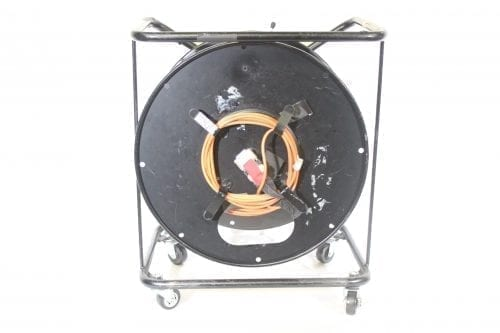 Canare R460S Brake Lock Cable Reel with Casters w/ 100 meter DVI Cable Front