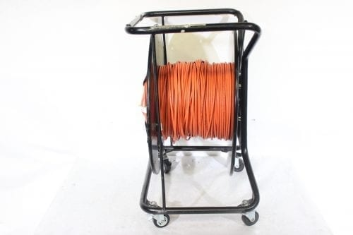 Canare R460S Brake Lock Cable Reel with Casters w/ 100 meter DVI Cable Side