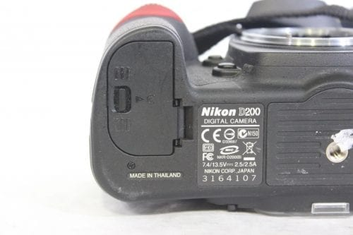 Nikon D200 10.2MP Digital Camera Kit Label