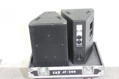 EAW JF200e Full Range Two Way Compact Speaker w/ Road Case FrontBack