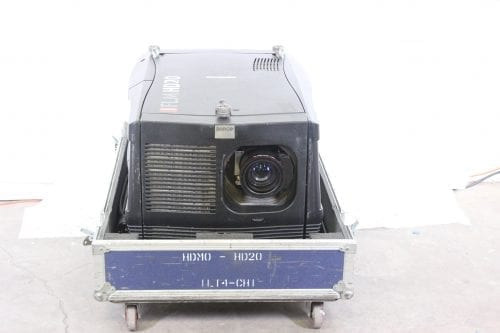 Barco FLM HD20 20k Lumens 1080p HD DLP Projector (7825 Hrs) in ATA Case - 235 Lamp Hr + Spare Lamp (1H) Front