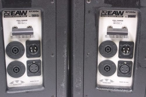 EAW KF300e 3-Way Speakers (Pair) w/ Road Case Connector