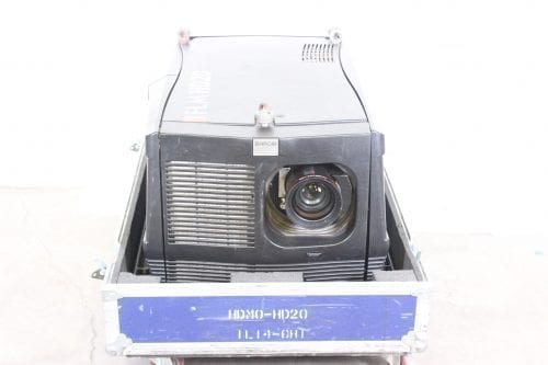 Barco FLM HD20 20k Lumens 1080p HD DLP Projector (7749 Hrs) in ATA Case - 70 Lamp Hr + Spare Lamp (1G)