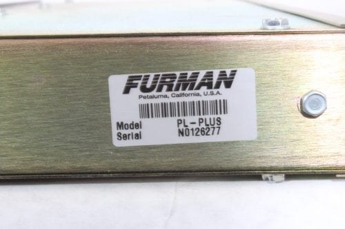 Furman PL-Plus II Power Conditioner - Label