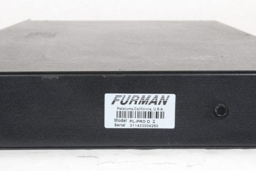Furman PL-Pro D II Power Conditioner - Label